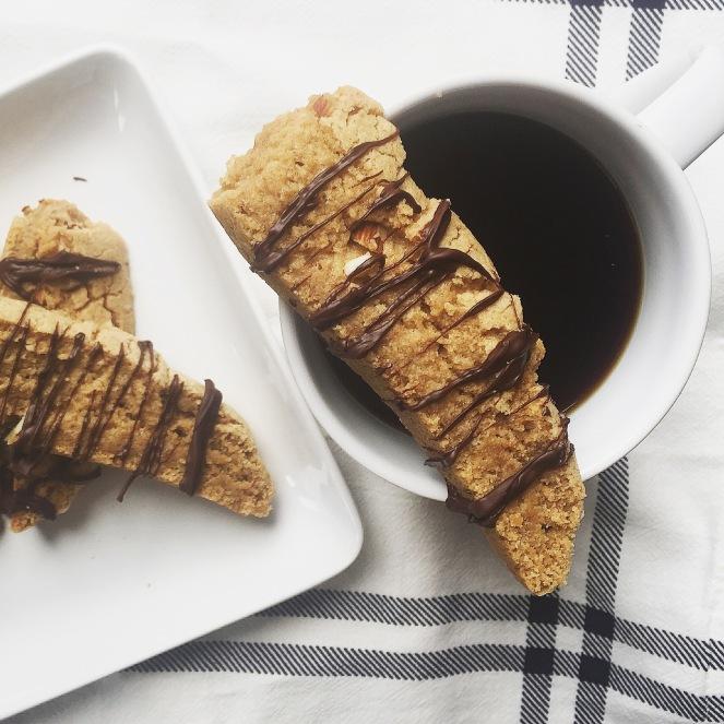 Almond + Cookie Butter Biscotti